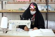 تصاویر/ کارگاه خیاطی خواهران جهادی روستای قبادبزن کهک
