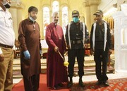 کلیسای کراچی توسط شیعیان ضدعفونی شد