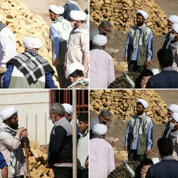 فعالیتهای جهادی امام جمعه رشتخوار در رزمایش مواسات