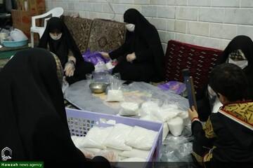 بالصور/ خدمات طالبات العلوم الدينية المتطوعات في مؤسسة أمير المؤمنين (ع) بمدينة كاشان