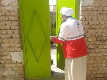 بالصور/ نشاطات الطلاب المتطوعين في محافظة خراسان الشمالية في مكافحة كورونا