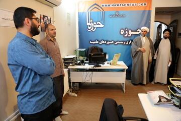 بازدید معاون خانواده و امور فرهنگی مرکز خدمات از خبرگزاری حوزه