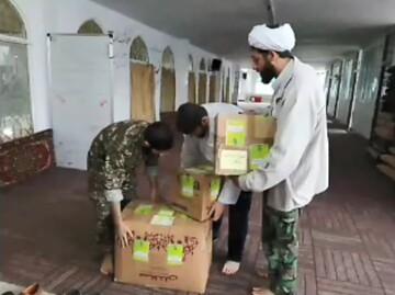فیلم | بستهبندی ماسک و گان بهداشتی توسط طلاب جهادی آستانه اشرفیه