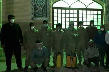 تلاش جمعیت جهادی دانشجویی امام حسن(ع) یزد در مبارزه با کرونا+ عکس