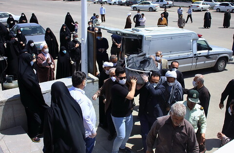تشییع پیکر مرحوم حجت الاسلام والمسلمین محمدتقی نحوی امام جمعه اسبق رامسر