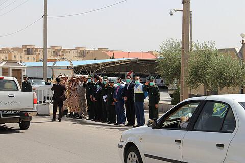 رزمایش فاصله گذاری اجتماعی در یزد