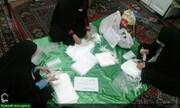 بالصور/ النشاطات التطوعية لطالبات المدرسة المعصومية العلمية في مكافحة كورونا بمدينة تبريز الإيرانية