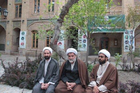 خداقوت مسئول نهاد نمایندگی و رئیس دانشگاه علوم پزشکی استان قزوین به طلاب جهادی