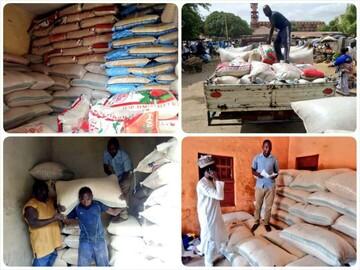 Nigeria Shia Muslims distribute grains to less fortunate