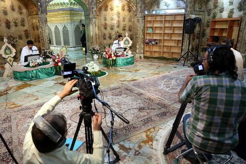 تصاویر/پخش زنده ترتیل خوانی قرآن کریم توسط نوجوانان در حرم حضرت معصومه(س)