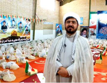 تهیه و توزیع ۴۵۰ بسته حمایت غذایی در یزدانشهر اصفهان
