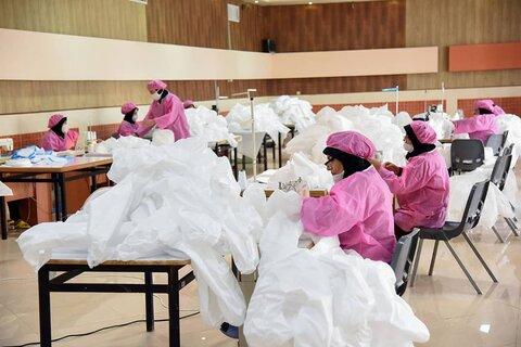 بازدید نماینده ولی فقیه در فارس از کارگاه های تولید ماسک