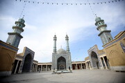 تصاویری از مسجد اعظم قم در ایام شیوع کرونا