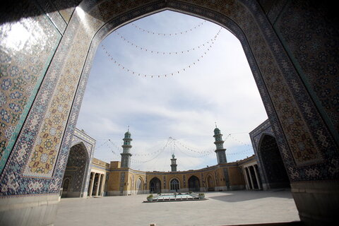 تصاویر/ نمایی از مسجد اعظم قم