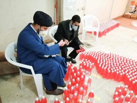خدمت مومنانه روحانیون و طلاب مدرسه علمیه امام محمد تقی مبارکه