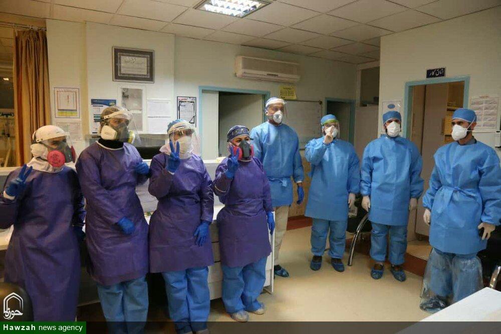 فیلم | گزارشی از حضور جهادی طلاب و روحانیون در بیمارستان باقرالعلوم(ع) اهر