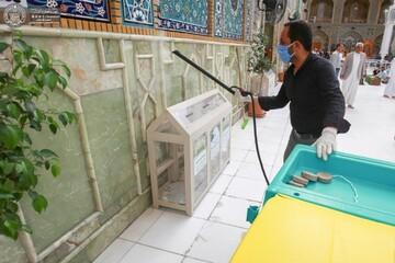 برنامه بهداشتی حرم امیرالمؤمنین(ع) در ایام ماه رمضان + تصاویر