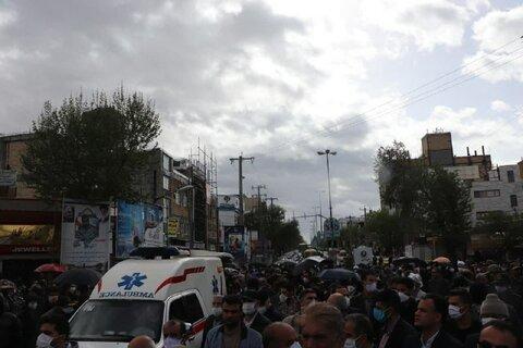 تشییع پیکر شهید شکیبا سلیمی توسط مردم انقلابی شهرستان قروه