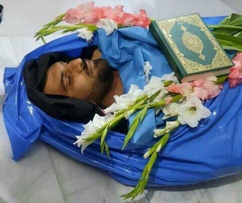 مراسم تشییع و خاکسپاری شهید جعفر نظام پور در شهر بیجار