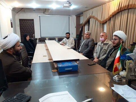 تصاویر/ دیدار مسئول دفتر نمایندگی ولی فقیه در جمعیت هلال احمر کردستان با مدیر حوزه علمیه استان