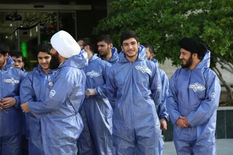 تصاویر شما/ خدمات جهادی طلاب گروه فرهنگی تبلیغی بصیر در بیمارستان بقیة الله تهران