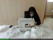 بانوان طلبه الشتری در میدان جهاد خدمت به مردم/ تولید و توزیع ۱۸ هزار ماسک