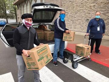 اطعام نیازمندان در ایام رمضان و بحران کرونا در کالیفرنیا