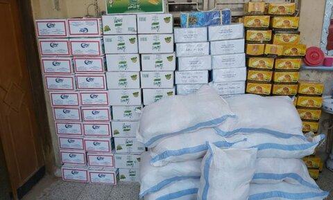 مؤسسة فيض الزهراء عليها السلام في محافظة ميسان العراقية توزع سلات غذائية
