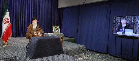تصاویر/ ارتباط تصویری رهبر انقلاب با جلسه ستاد ملی مبارزه با کرونا
