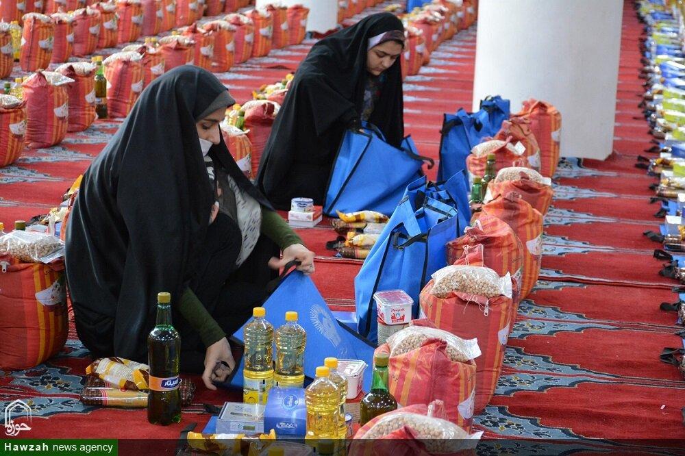 خریداری و توزیع اقلام بهداشتی و معیشتی نیازمندان با کمک مومنانه ۱۵۰ میلیون تومانی