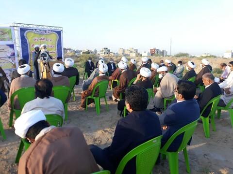 تصاویر/ مراسم کلنگ زنی پروژه ساختمان مرکز مدیریت حوزه علمیه هرمزگان