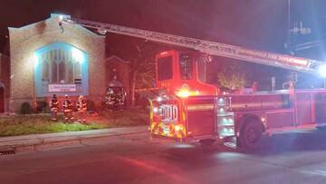 احتمال تعمدی بودن آتشسوزی در مسجد میناپولیس آمریکا