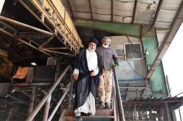 بازدید امام جمعه اهواز از محل بازیافت و دفن بهداشتی پسماندها+عکس