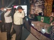 کاشانی ها با جانباز شهید مدافع حرم وداع کردند