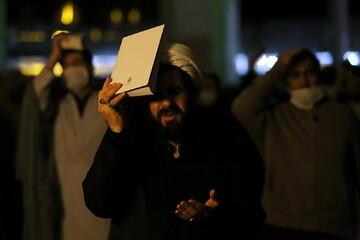 تصاویر/ احیای شب ۱۹ ماه مبارک رمضان در مصلای قدس قم