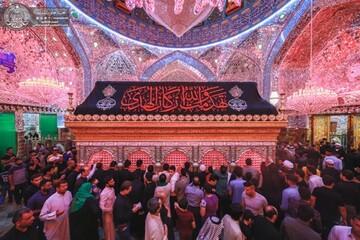 الحرم العلوي في صبيحة جرح أمير المؤمنين(ع) محاطا بأفئدة المعزين التي أعتصرها ألم المصاب + صور