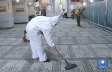 فیلم| غبارروبی مساجد شهر یزد