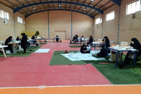فعالیت های طلاب مدرسه علمیه خواهران ایمانیه تاکستان در ایام کرونا