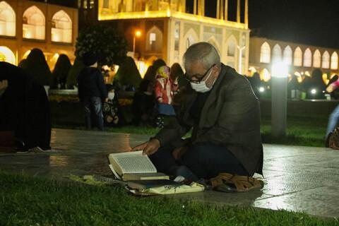 تصاویر/ مراسم شب 19 رمضان در مسجد امام