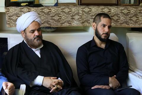 تصاویر/ حضور نمایندگان رئیس قوه قضائیه و مدیر حوزههای علمیه در منزل مرحوم آیت الله بطحایی