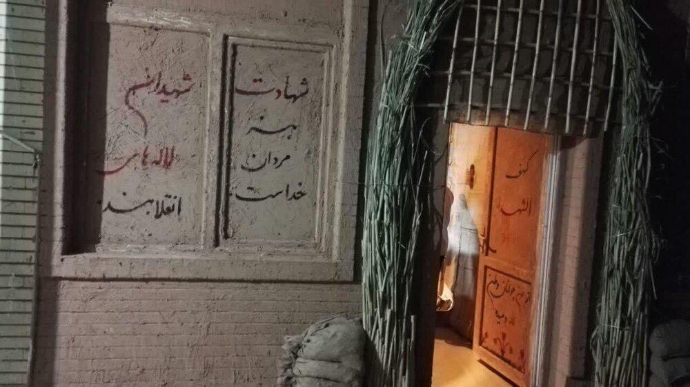ساخت حجره شهدا توسط طلاب جهادی حوزه علمیه حجت بن الحسن (عج) شهرستان دره شهر