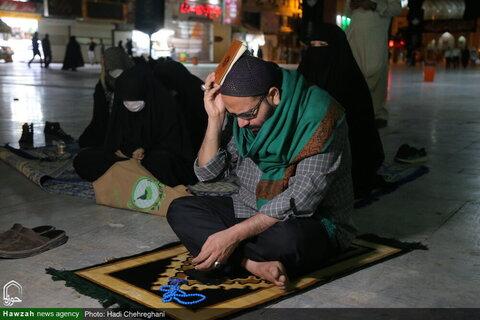 تصویری رپورٹ| جوار حرم حضرت فاطمہ معصومہ قم میں پہلی شب قدر کی مناسبت سے دعا اور راز و نیاز