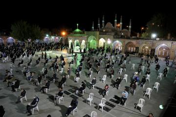 تصاویر/ احیای شب بیست و یکم ماه مبارک رمضان در امامزاده حسین(ع) قزوین