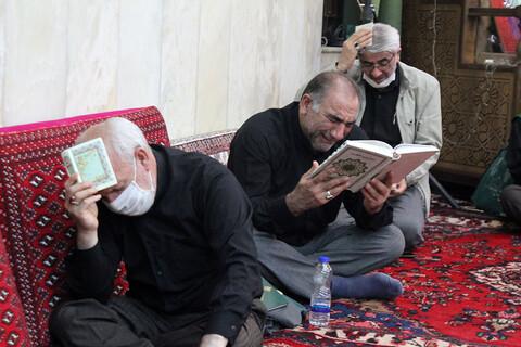 تصاویر/ برگزاری مراسم احیای دومین شب از لیالی قدر در امام زاده عبدالله همدان