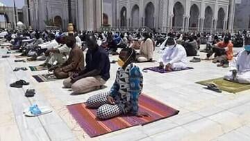 برگزاری نماز جمعه با رعایت توصیههای بهداشتی در سنگال+تصاویر