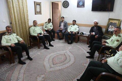 تصاویر/ اولین دیدار فرمانده جدید انتظامی یزد با آیت الله ناصری یزدی