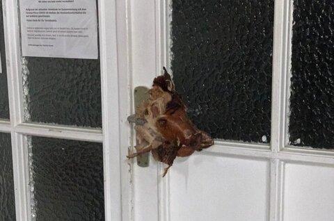 Pig's head placed on mosque door in German city
