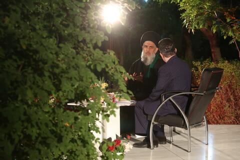 تصاویر / ویژه برنامه سحر های ماه مبارک رمضان از شبکه سیمای استان قم در جوار امامزاده جعفر شهید