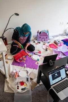 مسلمانان آمریکایی در ماه رمضان «مینی مسجد» ساختند