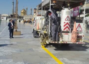 آمادهسازی زیرساختهای فاز دوم مسیر خودروهای برقی زائربر در میدان آستانه